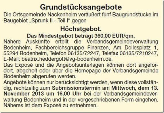 Grundstücke gegen Hoechstgebot in #Nackenheim