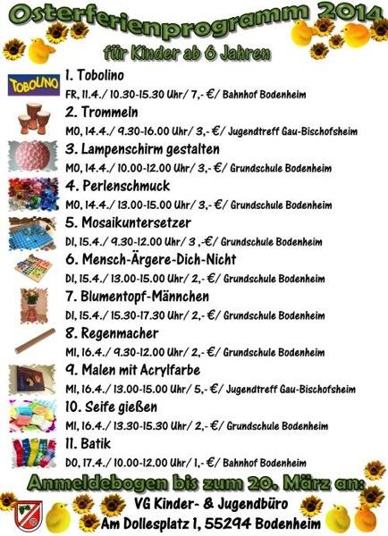 Oster Programm 2014