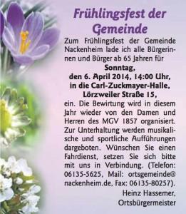 Frühlingsfest Gemeinde