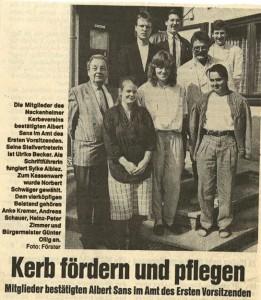 Kerbeverein 90 Zeitung