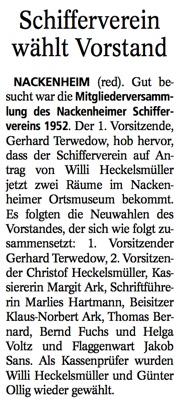 Schifferverein Wahl 2014