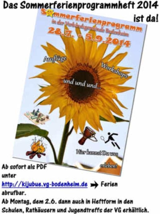 Sommerferienprogram 2014