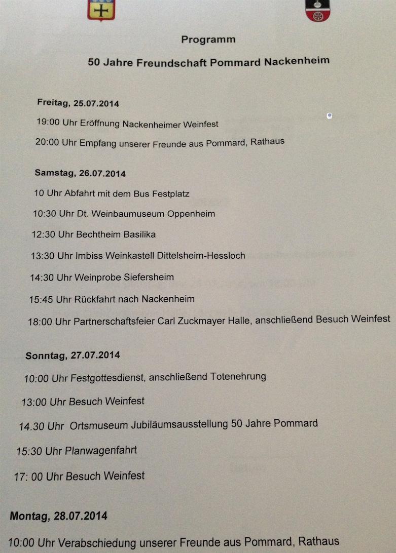 Partnerschaftsprogramm 2014