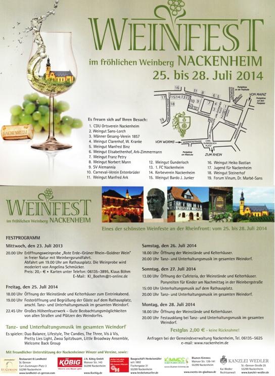 Weinfest 2014 Flyer