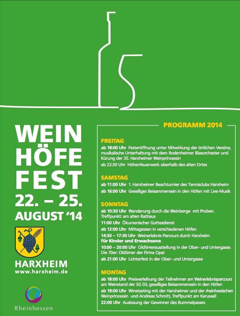 Weinfest Harxhaim 2014