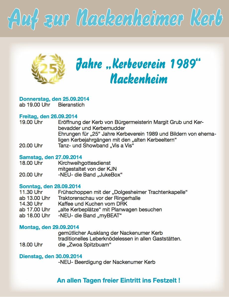 Kerbeprogramm 2014