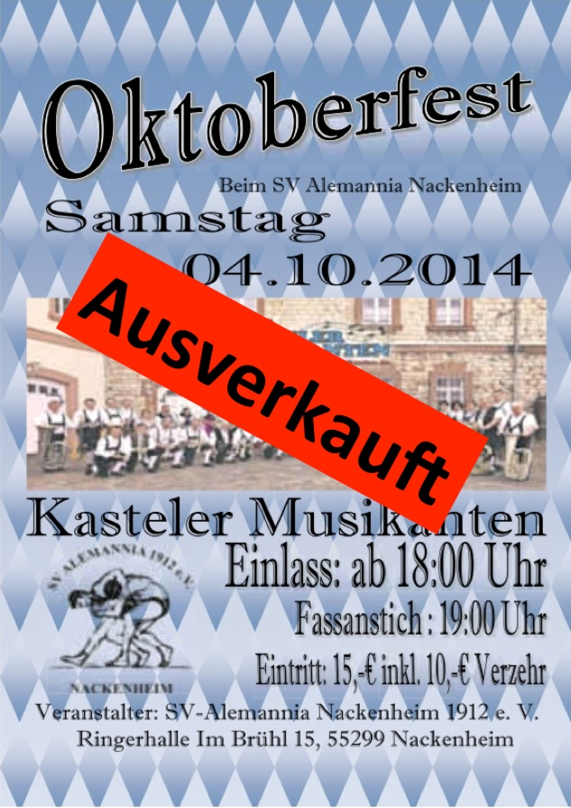 Oktoberfest 2014 ausverkauft