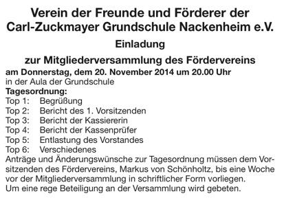Förderverein Grundschule 2014