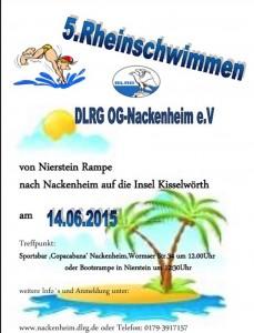 DLRG Rheinschwimmen 2015