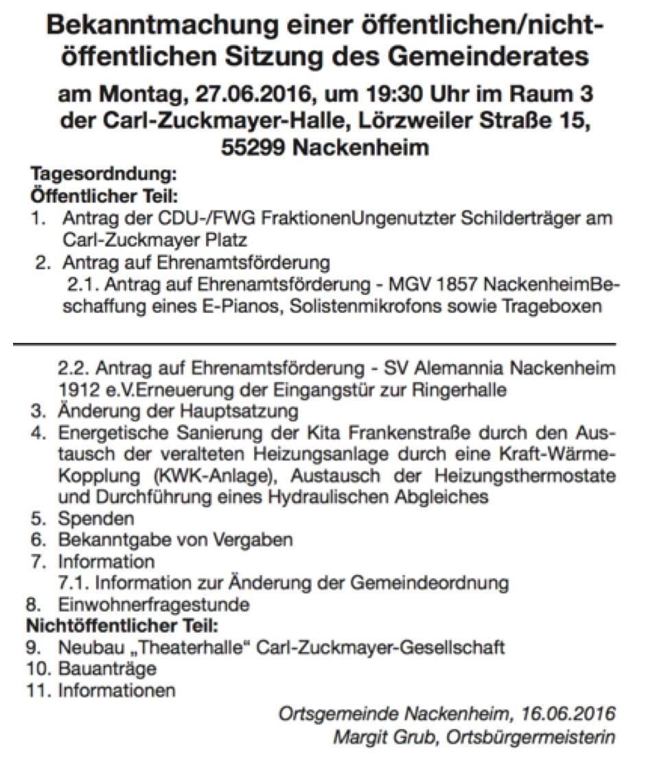 Gemeinderat 2016 06